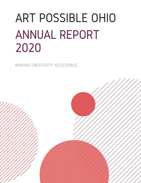Art Possible Ohio Annual Report 2020 cover with circle design