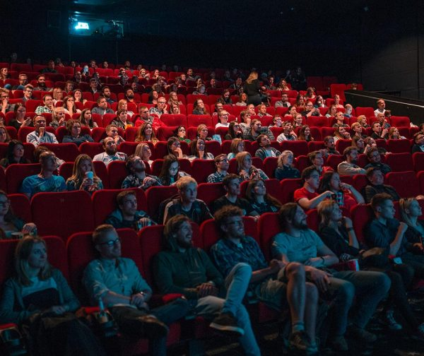 image of a movie theater audience